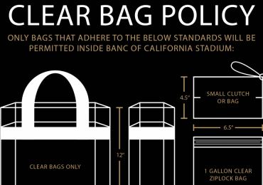 Know before you go... Clear Bag Policy!