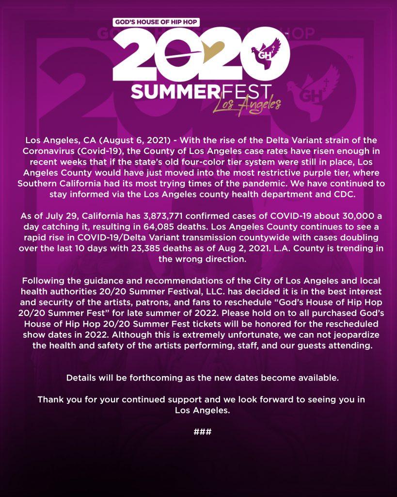 GH3 2020 Summer Fest public letter